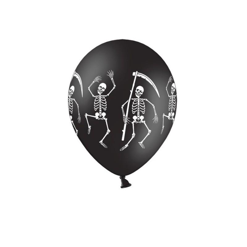 Balon 12 szkieletor pastel 50 szt