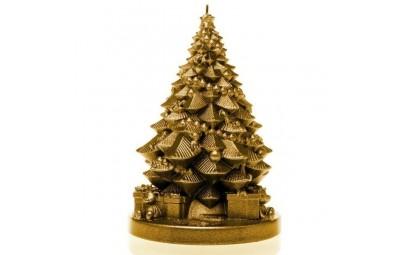 Świeca choinka z prezentami...