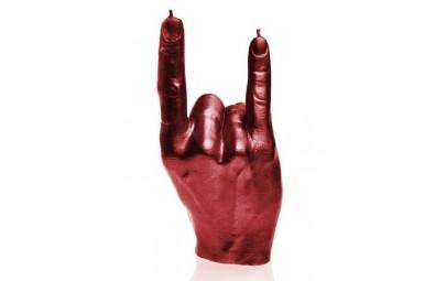 Świeca dłoń czerwony...