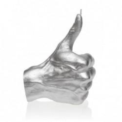 Świeca dłoń OK srebrna...