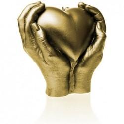 Świeca serce w rękach złota 160x160x75cm