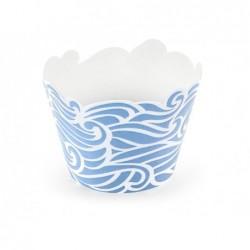 Papilotki foremki na muffinki Ahoy morskie niebieskie 6sztuk