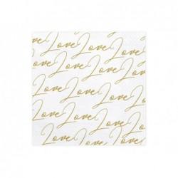 Serwetki Love, biały,...
