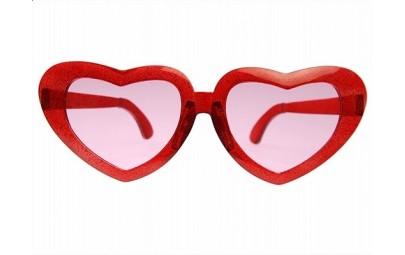 Okulary mega serca czerwone