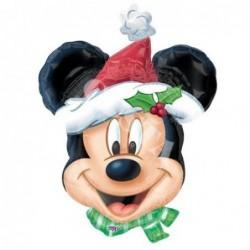Balon foliowy 25 Myszka Mickey świąteczna