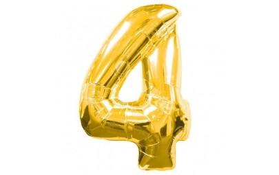 Balon foliowy 34 cyfra 4 złota
