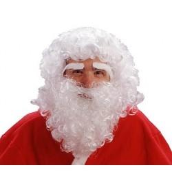 Peruka Mikołaj z brodą i brwiami