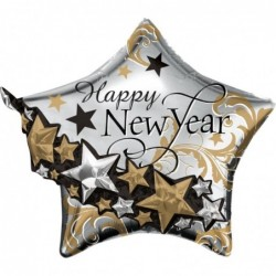 Balon foliowy 27 gwiazda Happy New Year