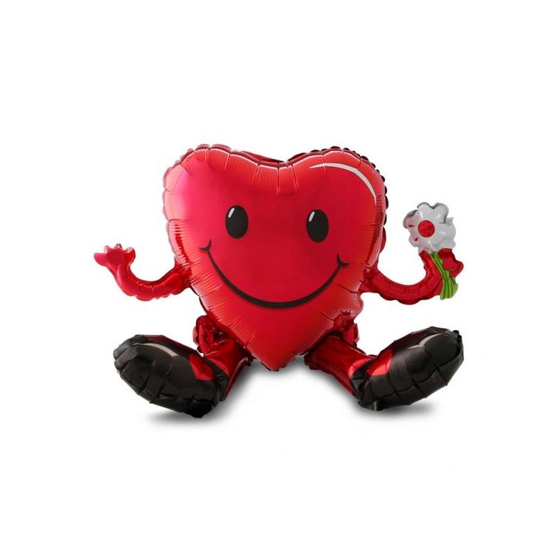 Multi-Balon foliowy serce uśmiechnięte 50x33cm