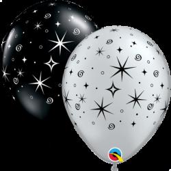 Balon 11 gwiazdki i iskry...