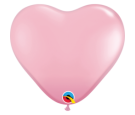 Balon 11 serce jasny róż pastel 100 szt.