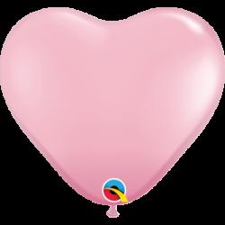 Balon 11 serce jasny róż...