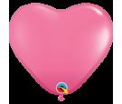 Balon 11 serce ciemny róż pastel 100 szt.