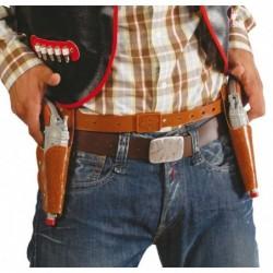 Kabura podwójna z pistoletami