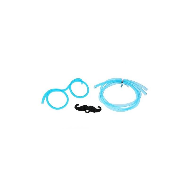 Rurki do picia okulary z wąsami