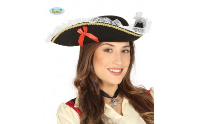 Kapelusz piratki czarny z...