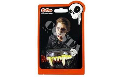 sztuczne gumowe zęby wilkołaka