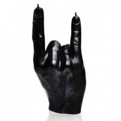 Świeca dłoń czarny metalik...