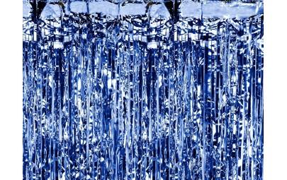Kurtyna party niebieska...