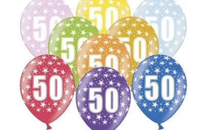 Balon 30 cm 50 Birthday...