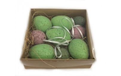 Jajka zawieszki w pudełku 9...