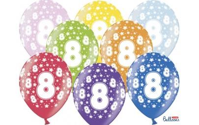 Balon 30cm 8 Birthday...