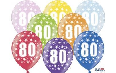 Balon 30 cm 80 Birthday...