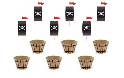 Zestaw do muffinek Piraci...
