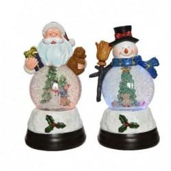 Figura led bożonarodzeniowa mikołaj/bałwan 12,5x22,5cm