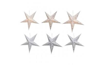 Gwiazda led biała/srebrna 60cm