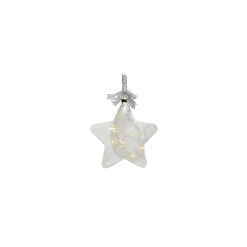 Gwiazda na linie micro 15 led ciepły biały 20cm