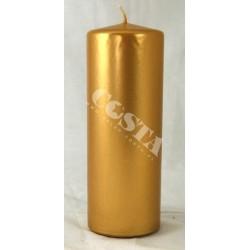 Świeca klubowa metalik złoty 65x200mm