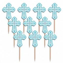 Pikery komunijne 6,3cm niebieskie 36 szt.