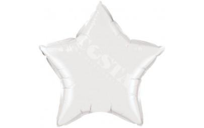 Balon foliowy 36 gwiazda biała