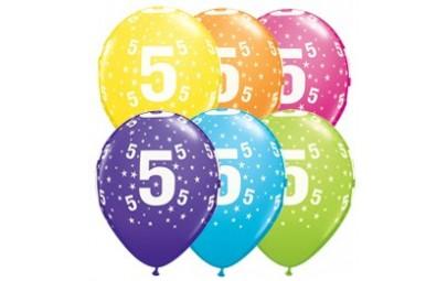 Balon 11 5 urodziny 6 szt.