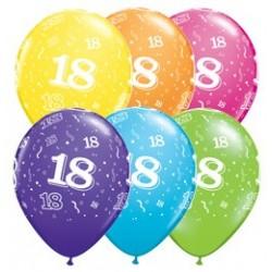 Balon 11 18 urodziny 6 szt.