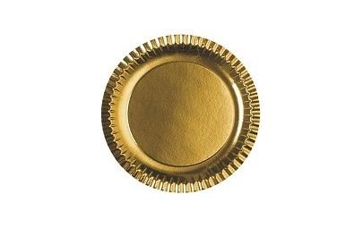 Talerze papierowe złote...