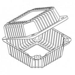 Pojemnik pet prostokątny110x110x76,5mm 100 szt.