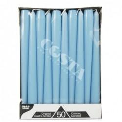 Świeca stożkowa jasno niebieska 22mm x 25cm 50szt art. 81766
