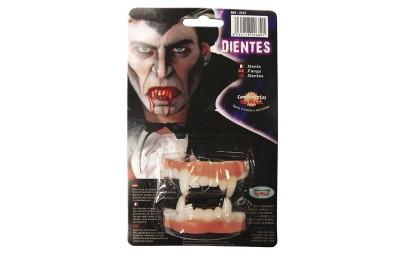 Sztuczne groźne zęby wampira