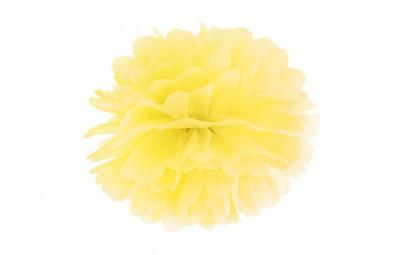 Pompon bibułowy żółty 35cm