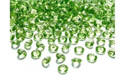 Konfetti diamentowe zielone...