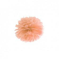 Pompon bibułowy brzoskwiniowy 25cm