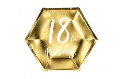 Talerz 18lat Birthday złoty...