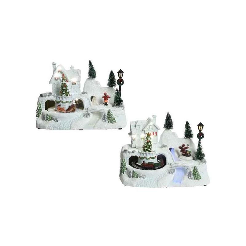 Miasteczko świąteczne led 24x15,5x17cm