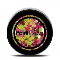 Brokat UV holograficzny mix neonowy 3g