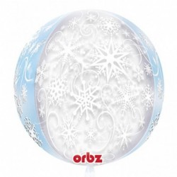 Balon 16 w śnieżynki bubble