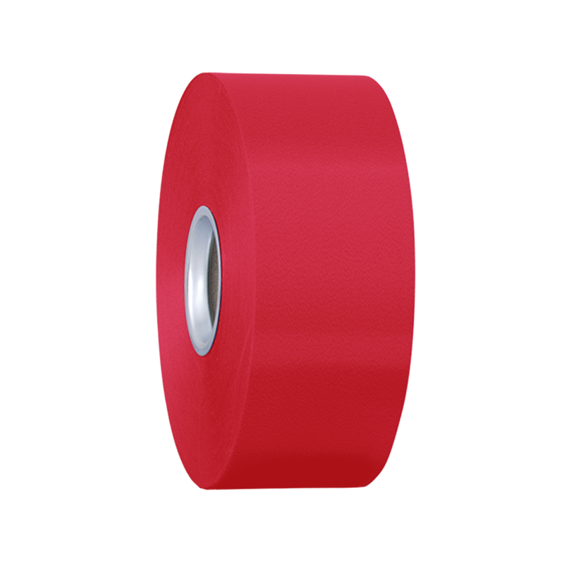 Wstążka plastikowa czerwona 5cm 93m