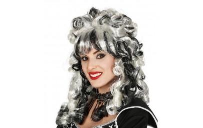 Peruka markiza czarno-biała
