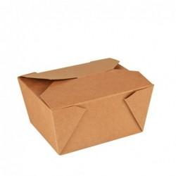 Pudełko na kanapkę z kartonu brązowe pure 6,3x9x11x3cm 50 szt. art.85687